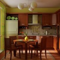 """""""Зеленый"""" дизайн кухонного интерьера"""