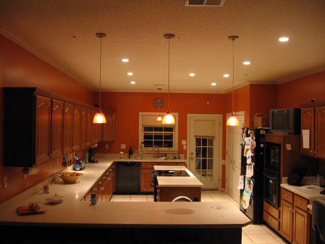 Вида освещения кухни