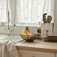 Кружевные занавески для кухни.